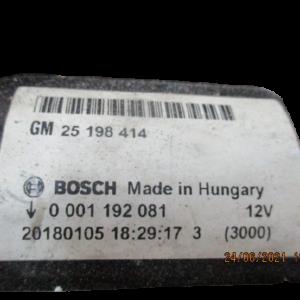 Opel Corsa E Adam Mokka X   Benzina anno dal 2006 al 2014 Motorino avviamento Bosch 0001192084 25198414