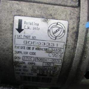 Alfa Romeo 159 Fiat Croma anno dal 2005 al 2011 Compressore aria 60693331 506141-0076