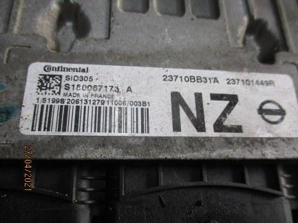 ECU Nissan Qashqai 1500 Diesel anno dal 2007 al 2013 Centralina motore Continental SID305 S180067173A