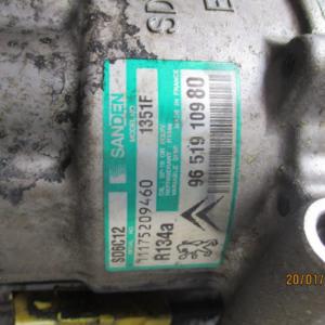 Citroen C4 C3 2° serie  Peugeot 207 307 2° serie  anno dal 2004 al 2013 Compressore aria condizionata  9651910980