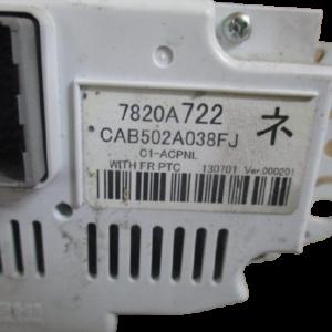 Mitsubishi ASX anno dal 2011 al 2016 Comandi climatizzatore 7820A722 CAB502A038FJ