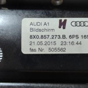Audi A1 anno dal 2010 al 2018 Monitor display navigatore Bildshirm 8X0857273B 6PS16S