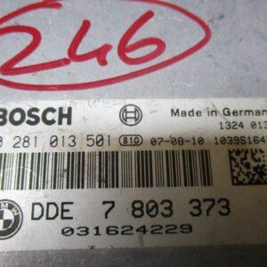 Bmw Serie 3 E90 2000 Diesel anno 2006 Centralina motore 0281013501 DDE7803373