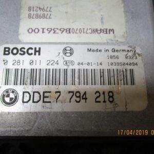 Bmw Serie 5 530 E60 Centralina motore 0281011224 DDE7794218.