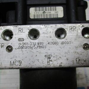 Nissan Qashqai 1.5 DCi anno 2009 pompa e centralina Abs  0265231899 , 0265800609
