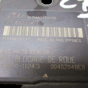 Citroen C3 1100 Benzina anno 2004 Abs 9658260080 10.0970-1124.3 00402048E0