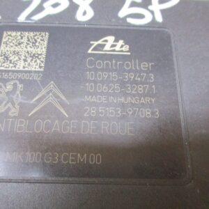 Peugeot 208 1.6 D anno 2012 ABS 10.0915-3947.3 , 10.0625-3287.1 , 28.5153-9708.3 , 9817031680 ESC