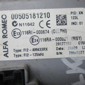 Alfa Romeo Mito 1400 Benzina Centralina BSI 00505181210  28177152