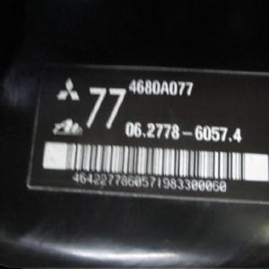 Mitsubishi ASX 1800 Diesel anno dal 2011 al 2016 Servofreno 4680A077 06.2778-9057.4
