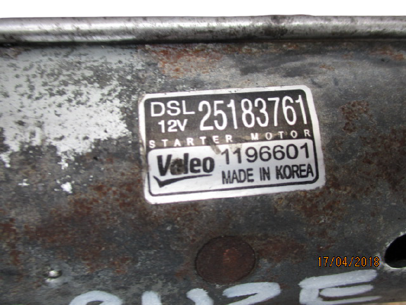 Chevrolet Cruze captiva opel antara 2000 Diesel anno dal 2009 al 2015 Motorino avviamento Valeo 1196601 25183761